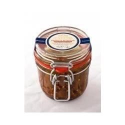 Filetti di acciughe con peperoncino in olio oliva