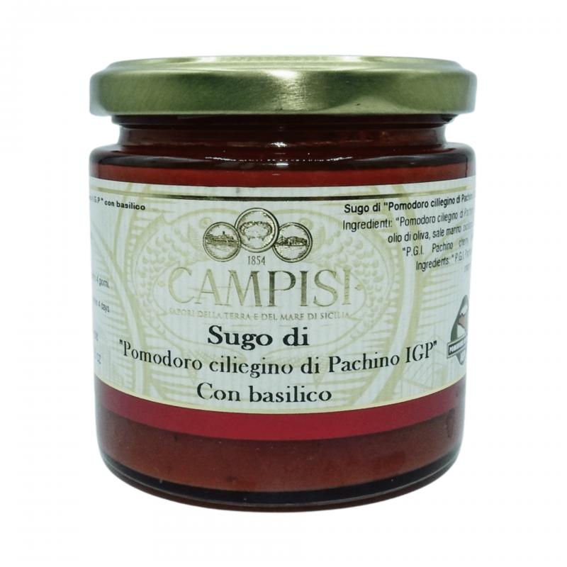 Sugo di pomodoro Ciliegino di Pachino I.G.P. con basilico