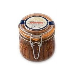 Filetti di acciughe con peperoncino in olio