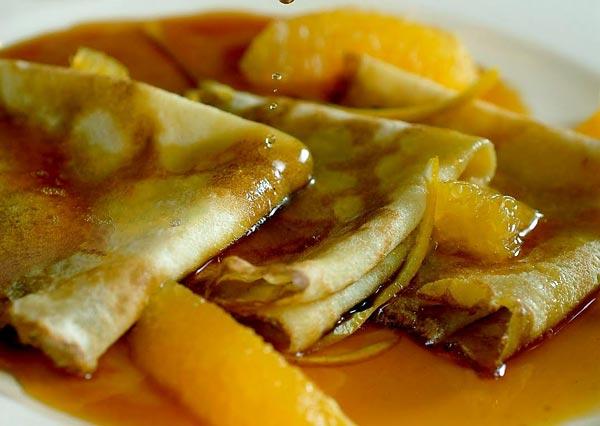 Crepes Suzette all'arancia di Sicilia